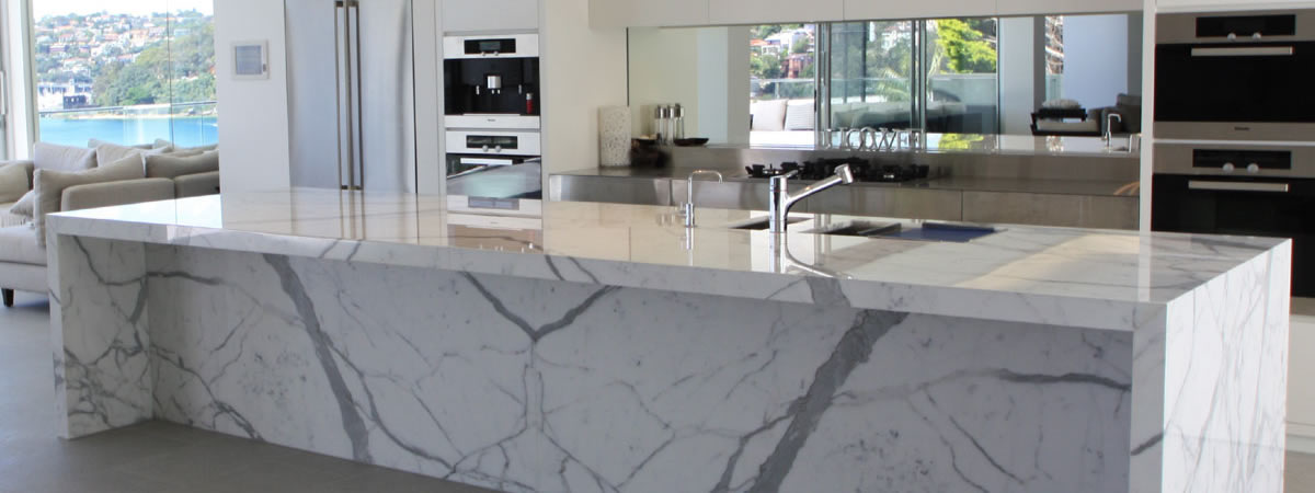 Bianco Carrara, Arabescato, Calacatta & Statuario Kitchen Benchtops